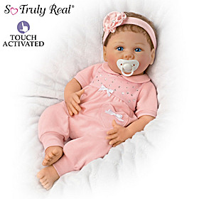 Chloe Coos RealTouch Vinyl Interactive Baby Doll