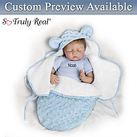 Baby Of Mine Blue Bear Personalized Baby Doll