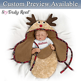 Baby Of Mine Reindeer Personalized Baby Doll