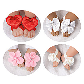 Barefoot Sandals And Headband Baby Doll Accessory Set
