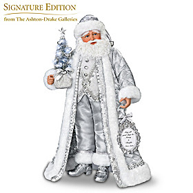 Silver Bells Santa Doll