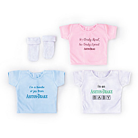 Ashton-Drake T-Shirt And Socks Baby Doll Accessory Set