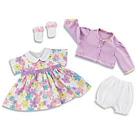 Cute And Classic Dress Baby Doll Accessory Set
