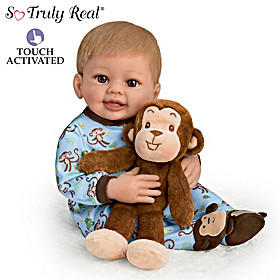 Mason Baby Doll And Mo Plush Monkey Set