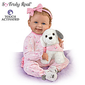 Layla's Puppy Love Baby Doll And Plush Puppy Set