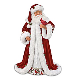 Winter Blessings Santa Doll