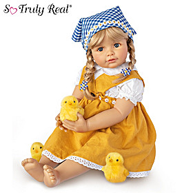 Emma With Chicks Child Doll And Plush Chicks Set