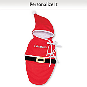 Santa Bunting Personalized Baby Doll Accessory