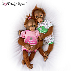 Twice The Smiles, Double The Cuddles Monkey Doll Set