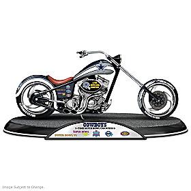Dallas Cowboys Driven To Victory Motorcycle Sculpture