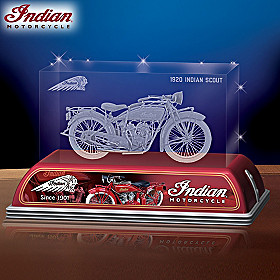 Indian Scout Motorcycle Centennial Tribute Sculpture