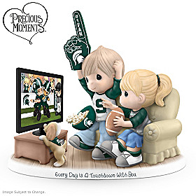 Every Day Is A Touchdown With You Michigan State Figurine