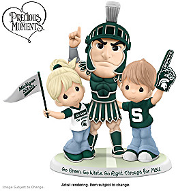 Go Green, Go White, Go Right Through For MSU Figurine