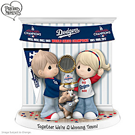 Together We're A Winning Team Los Angeles Dodgers Figurine