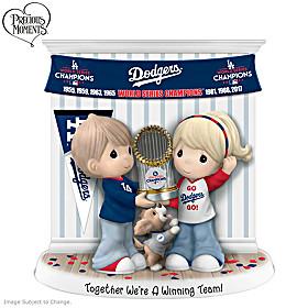 Together We're A Winning Team Los Angeles Dodgers Figurine