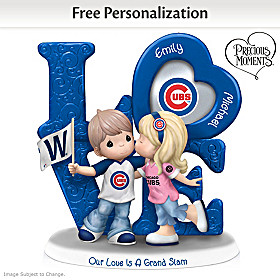 Our Love Is A Grand Slam Cubs Personalized Figurine