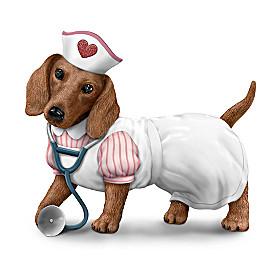 Nurses Are Su-paw Heroes Dachshund Figurine