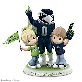 Precious Moments Together For A Seahawks Win Figurine