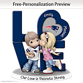 Our Love Is Patriots Strong Personalized Figurine