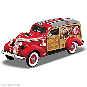 Cruising To Buckeye Victory Woody Wagon Sculpture