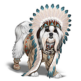 Chief Barks A Lot Shih Tzu Figurine