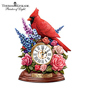 Thomas Kinkade Time Heals All, But Love Never Fades Clock