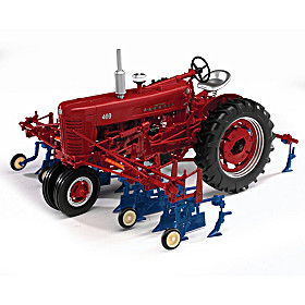 1:16-Scale Farmall 400 Diecast Tractor With Cultivator