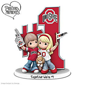 Precious Moments Together We're #1 Ohio State Figurine