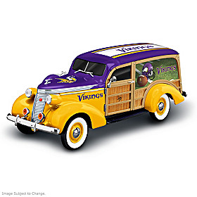 Cruising To Victory Minnesota Vikings Woody Wagon Sculpture
