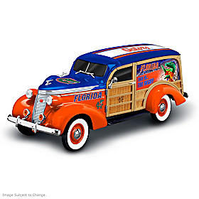 Cruising To Gators Victory Woody Wagon Sculpture