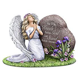 She Who Kneels Before God Can Stand Before Anyone Figurine
