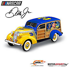 Dale Jr. Vintage Ride Woody Wagon Sculpture
