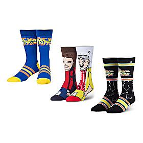 Back To The Future Socks 3-Pair Set