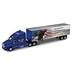 A Prayer For America's Trucker Diecast Cab & Trailer