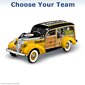 Cruising To Victory NFL Woody Wagon Sculpture