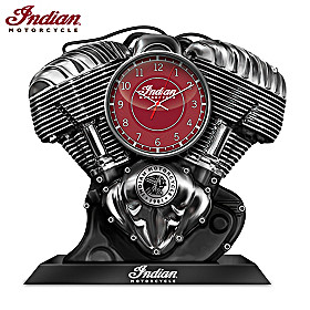 Indian Motorcycle 120th Anniversary V-Twin Clock