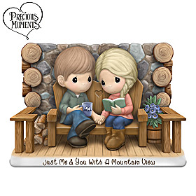 Precious Moments Just Me & You With A Mountain View Figurine
