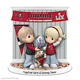 Together We're A Winning Team Tampa Bay Buccaneers Figurine