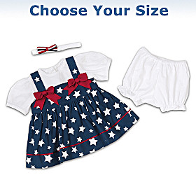 Stars & Stripes Baby Doll Accessory Set