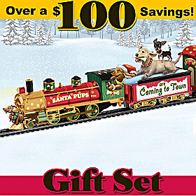 Santa Pups Are Coming To Town Express Train Set