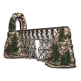 Timber Trestle Bridge Masterpiece Sculpture
