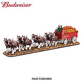 Budweiser Clydesdales Autumn Masterpiece Sculpture