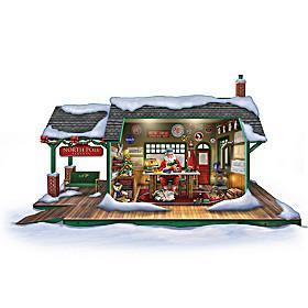 Santa's Ultimate Train Workshop Sculpture