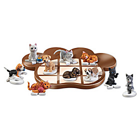 Claws 'n' Paws Tic-Tac-Toe Board Game Set