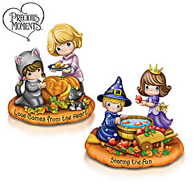 Love Comes From The Heart And Sharing The Fun Figurine Set