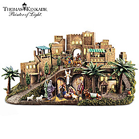Thomas Kinkade O Little Town Of Bethlehem Nativity Sculpture