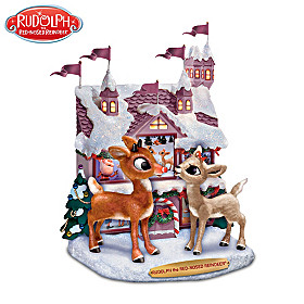Rudolph The Red-Nosed Reindeer & Clarice Sculpture