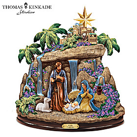 Thomas Kinkade Faith Fountain Sculpture