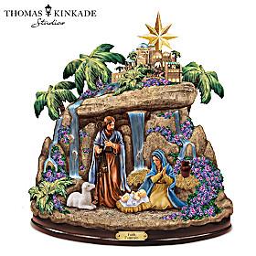 Thomas Kinkade Faith Fountain Sculpture