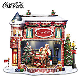 COCA-COLA Santa's Workshop Sculpture